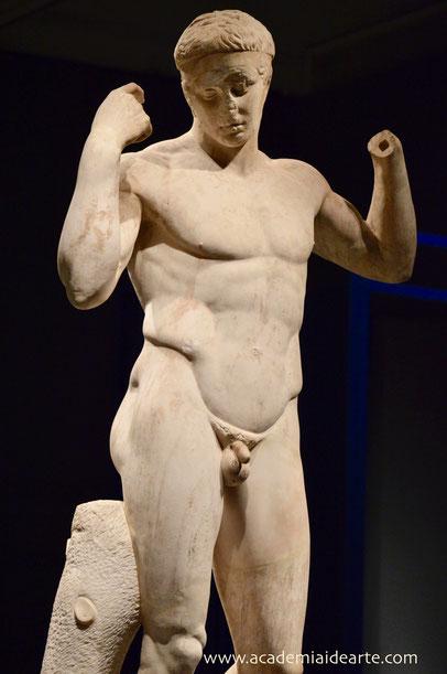 Diadumeno; Policleto; mármol; Museo Británico; Naty Sánchez Ortega; Academia Idearte; Barcelona; escultura;