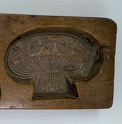 Hand carved butter or pastry mould