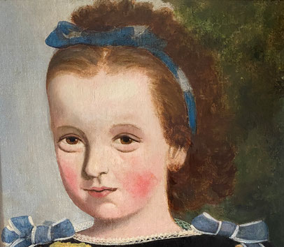Oil portrait of Portrait of an American Girl with Beautiful Eye