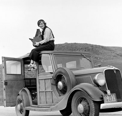 Dorothea Lange photographiée en 1936 © Library of Congress