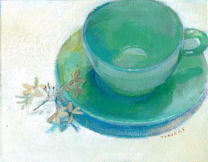 緑のカップ