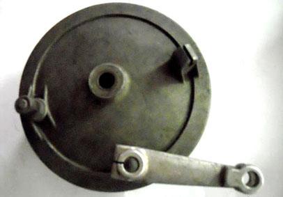 Exterior de la tapa del tambor de freno