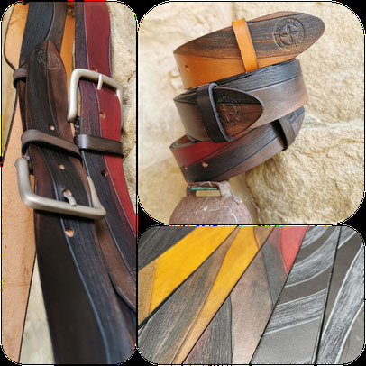 cintura in cuoio fatta a mano
