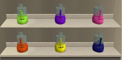 Robots ménagers 6 recolorations