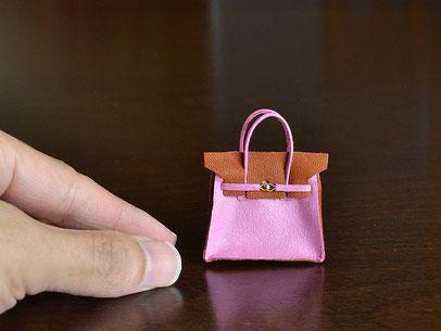 ミニチュア・バーキン ピンク&ブラウンの特別色