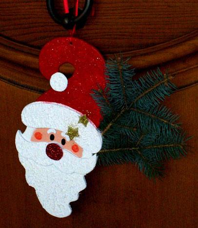 Déco de porte pour Noel