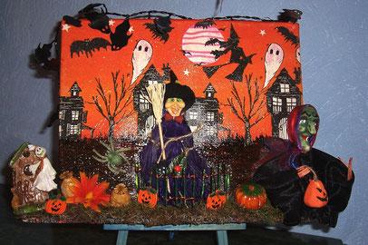 Halloween sur toile