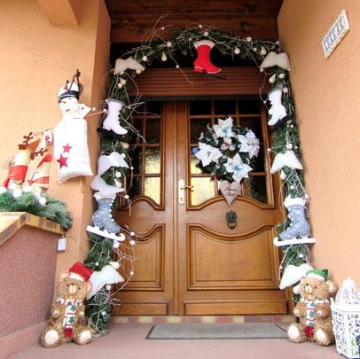Déco de Noel porte d entrée