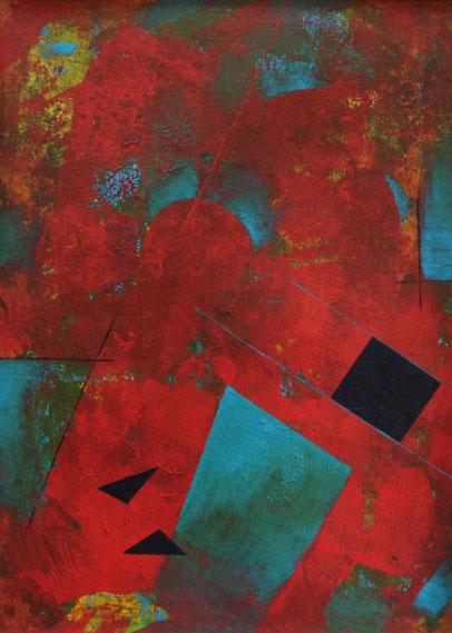 ohne Titel, DINA4, Acrylfarbe