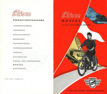 Original Cover Rixe Produktionsprogramm