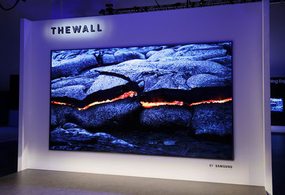Samsungs The Wall auf der CES 2018 (Quelle: https://www.flickr.com/photos/samsungtomorrow/39567767861/in/album-72157689172815792/)