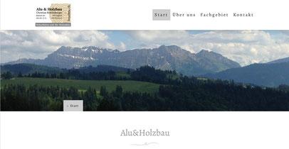 Headerbild Berglandschaft von Alu&Holz, unterstützt von Jungo-Grafik