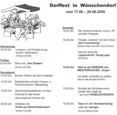 Bild: Teichler Wünschendorf Erzgebirge Dorffest 2000