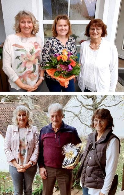 Die Sängerfreunde Leerstetten gratulieren Christine Hönig und Georg Mößler zum runden Geburtstag!