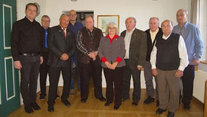 Ehrungen langjähriger Vereinsmitglieder anlässlich der Jahresversammlung der Sängerfreunde Leerstetten