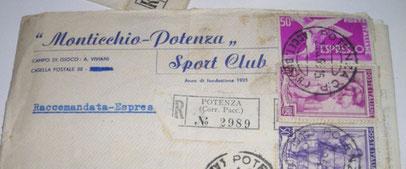 Busta da lettera della società potentina MONTICCHIO POTENZA SC