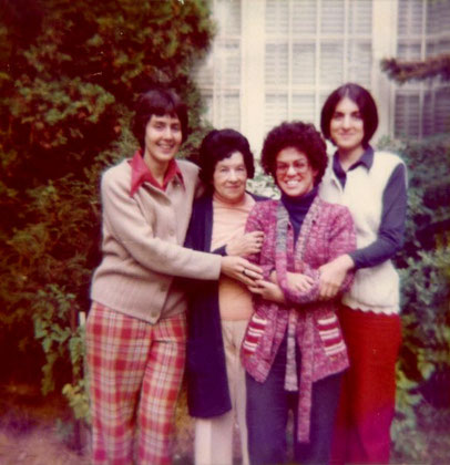 Cathy Riley, Jeanne Shaw, Bobbi and Sheryl Chapman in Schenectady, NY - 1970s