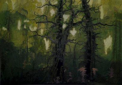 """Martin Guido Becker, """"Waldstück"""", 2011, 70/100 cm"""