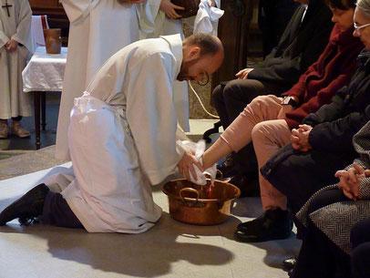 1-Le rite du lavement des pieds (St Mathieu)