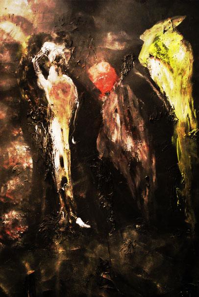Ancient Regime, Acryl auf Leinwand, 115x75, 2016