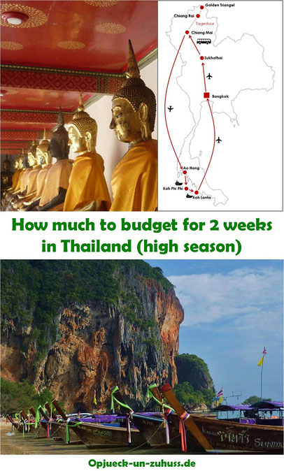 How much to budget for 2 weeks in Thailand