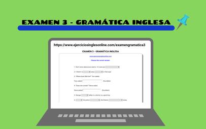 Examen 3 - Gramática inglesa