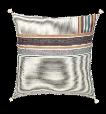 Cushion, fairtrade, kilimmesoftly.ch, nachhaltig, cotton, Injiri, Chinar  Farooqui, interior design, India