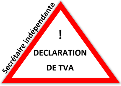 Déclaration de TVA  secrétaire indépendante, secrétaire freelance