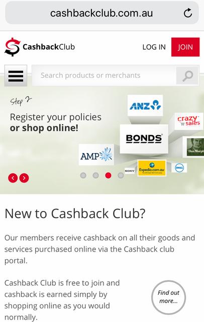 cash back club, Australian cash back, rewards, referral program, save money, buy and save, money back,