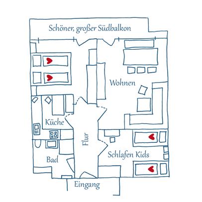 Grundriss Appartement 05 – Max