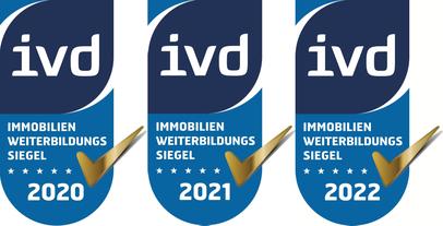 Immobilien-Fortbildungs-Zertifikat für VERDE Immobilien durch IVD Bundesverband