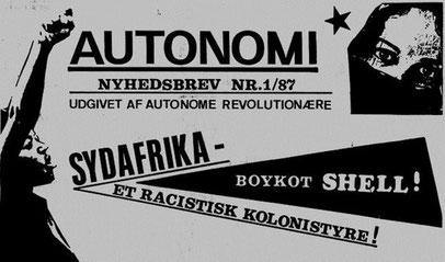 Udgivet af den autonome rådskommunistiske gruppe 'Autonome revolutionære'
