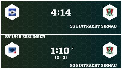 Ergebnisse Jugend SG Eintracht Sirnau