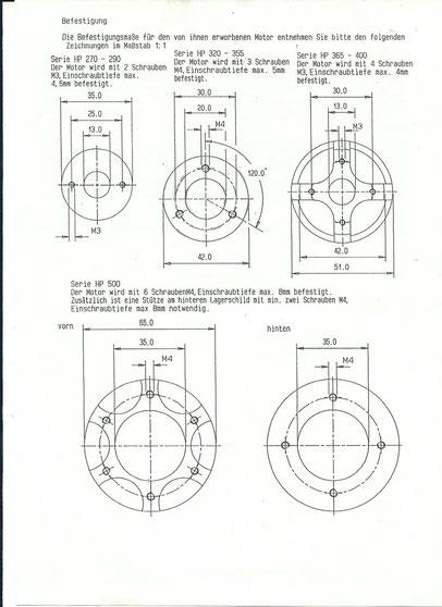 Lochkreise für Plettenberg Motoren