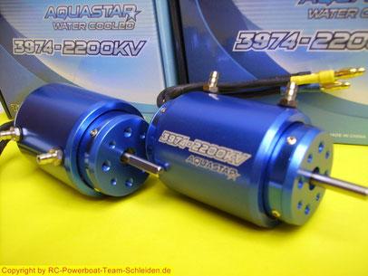 Die Turnigy AquaStar Sensorless Brushless Motoren  CNC gefrästen T6 Aluminium Motor,hochreinem Kupfer Wicklungen , gesinterten Neodym-Magneten, Billet-Aluminium Wassermantel vorinstalliert. für  tiefe