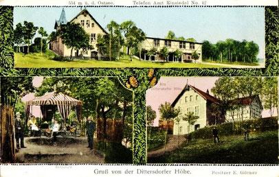 Das Lokal um 1920