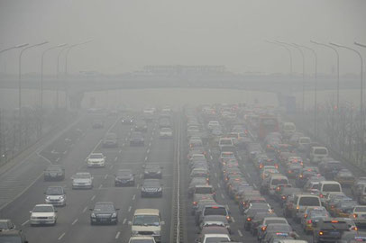 Severe pollution in Beijing