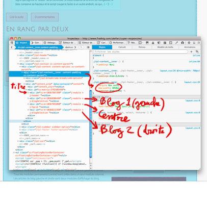 Exemple de méthode de ciblage avec l'inspecteur de propriété de Firefox