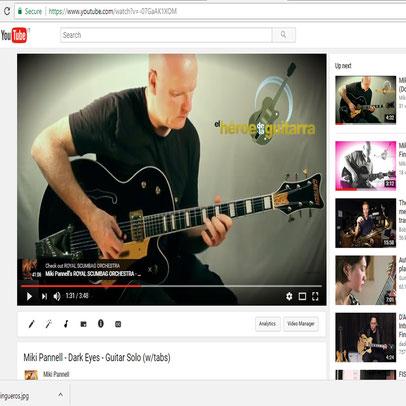 Lezioni di chitarra. Tutorial video di chitarra. Come suonare la chitarra.