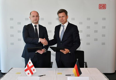 At the signing of the agreement in Berlin: David Peradze (left) and Alexander Doll -  courtesy DB