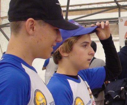 Nella foto Matteo Beber e Pierpaolo Bonini del Trento Baseball al Prolific Thrower 2016