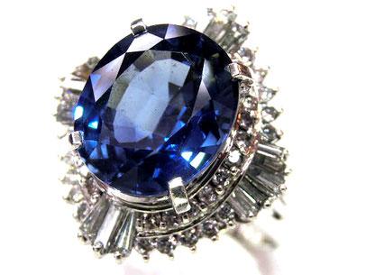 サファイアダイヤリング プラチナ
