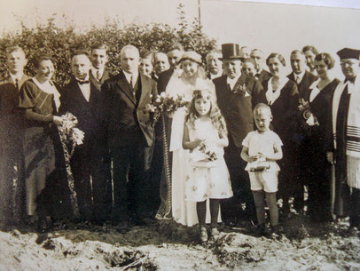 Paulas Hochzeit im Jahr 1933