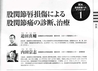 医道の日本:股関節唇損傷による股関節痛の診断、治療