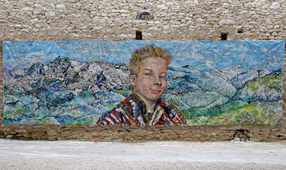 Le Défi - acrylique sur toile, 7.30 m x 2.15 m, 2015