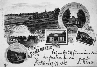 Postkarte aus dem Jahr 1898