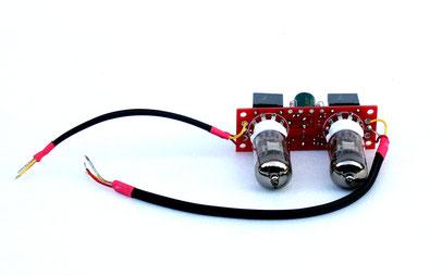 La scheda Phono MM a valvole che viene inserita internamente con la V2