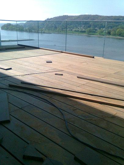 Deck verlegt mit Ipe