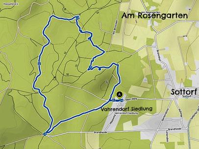 Bild: Wanderkarte vom Forst Rosengarten