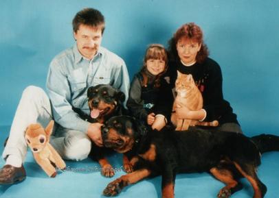 Rückblick 1995 mit den Rottis Daesy, Willy und Kater Tom